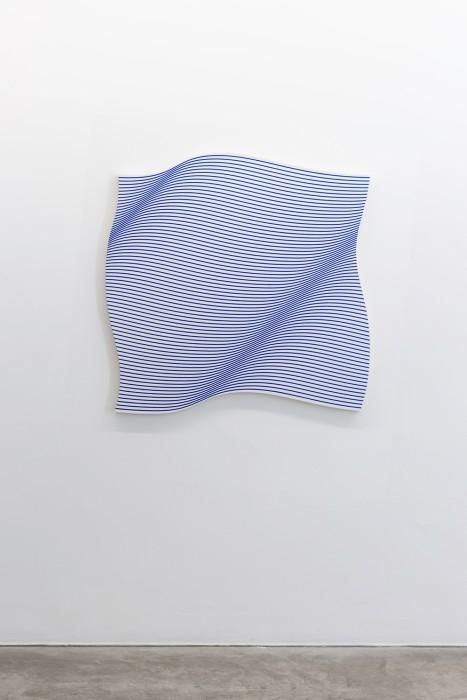 Philippe Decrauzat Flag wave, 2016 acrílica sobre tela 114 X 111 cm