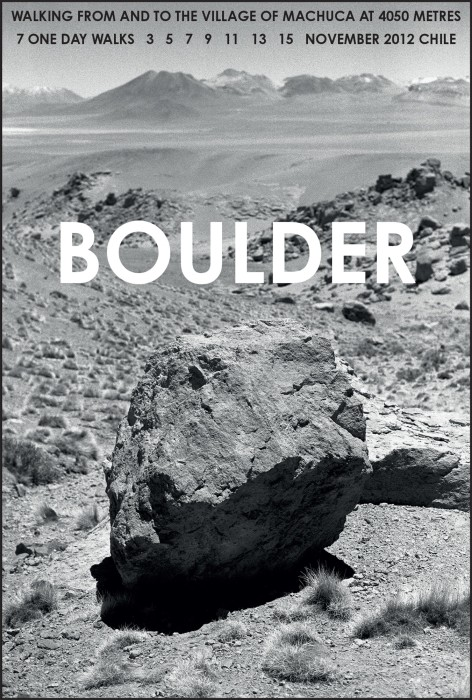 hamish fulton, boulder, chile, 2012