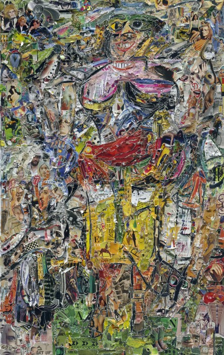 vik muniz, pictures of magazine 2: woman and bicycle, after willem de kooning, 2012