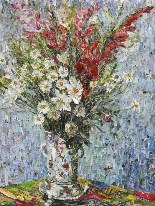 vik muniz, pictures of magazine 2: vase of flowers, after claude monet, 2013