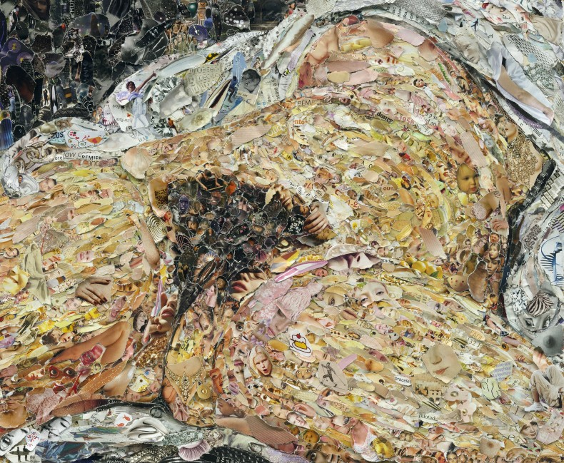 vik muniz, pictures of magazine 2: origin of the world, after courbet, 2013