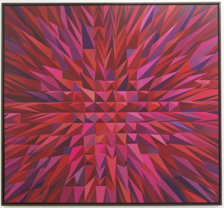 rodolpho parigi, magenta abstract nerveux, 2012