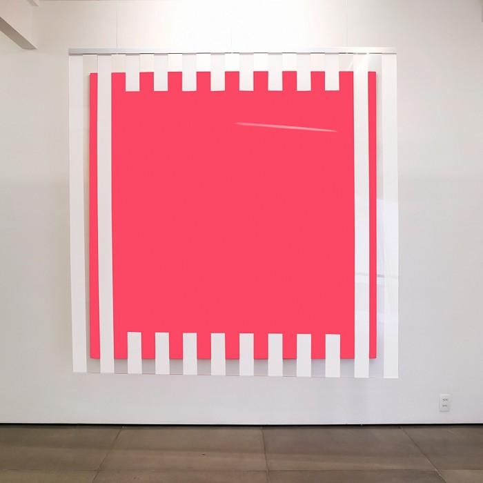 daniel buren, cores, luz, projeção, sombras, transparência: obras situadas pink, 2015