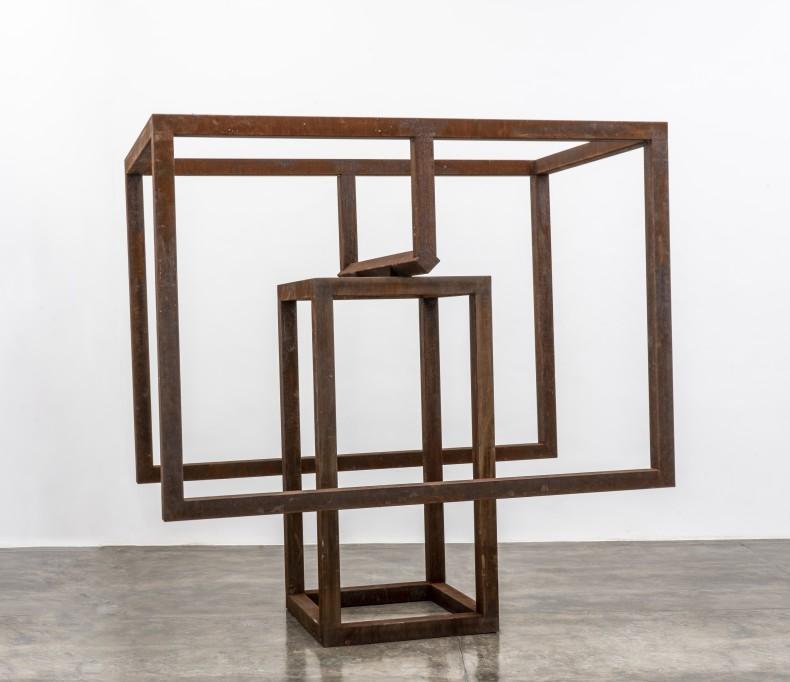 Raul Mourão Gelo [Ice] # 8, 2019 corten steel 250 x 250 x 150 cm