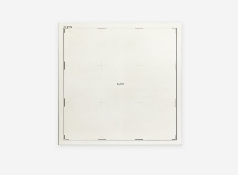 Antonio Dias The Space: Culture, 1970 acrylic paint on canvas 150 x 150 x 2,5 cm/59.1 x 59.1 x 1...