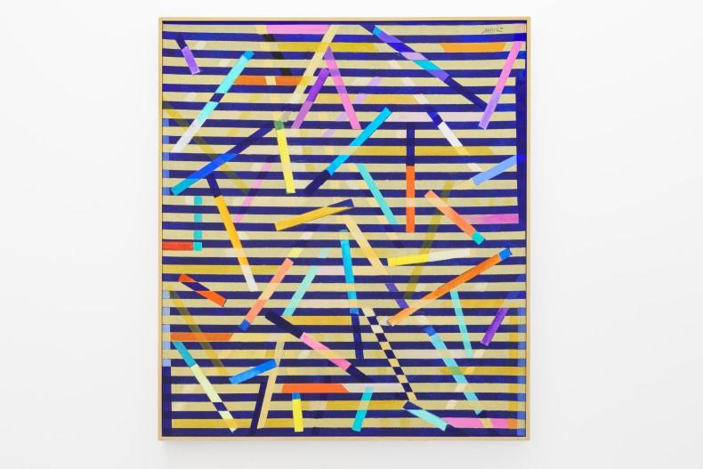 Heinz Mack Sem título (Chromatic Constellation), 2014 tinta acrílica sobre tela 151 x 133 x 7,5 cm