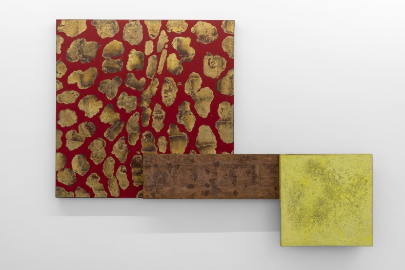 Antonio Dias Untitled, 2005 acrylic and copper sheets on canvas 149,2 x 209,9 x 16,2 cm / 58.7 x 82.6...