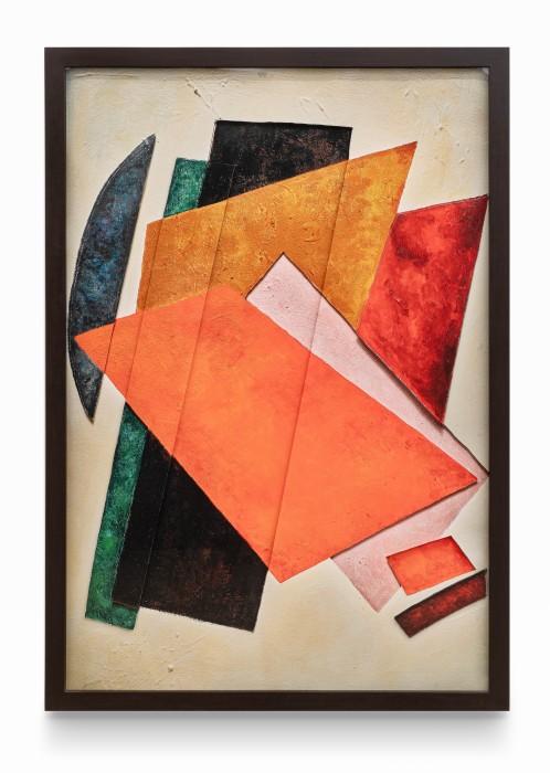Vik Muniz Surfaces: Painterly Archictectonic, after Liubov Popova, 2019 archival inkjet prints assembled in layers 156,7 x 106,7 cm /...