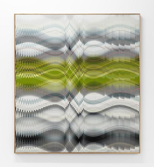 Abraham Palatnik W-V/6, 2017 acrylic paint on wood 122 x 109,5 cm / 48 x 43.1 in