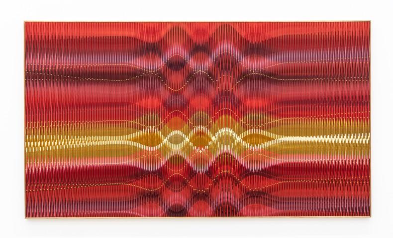 Abraham Palatnik W-HH/2, 2019 acrylic paint on wood 125 x 205 cm / 49.2 x 80.7 in