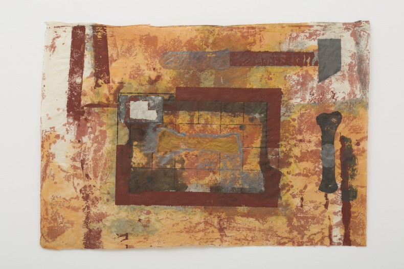 Antonio Dias Working in the furnace, 1986 mixed media on Nepalese paper 57 x 81,5 cm / 22.4 x 32.1...