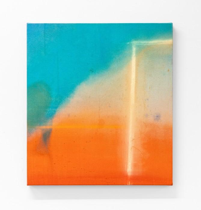 Karin Lambrecht Entre nós uma passagem, 2015 pigmentos em meio acrílico, pastel seco e marcas de chuva sobre lona pigments...