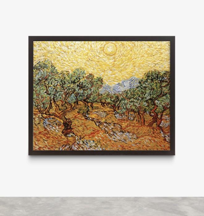 Vik Muniz Pictures of Pigment: Olive Trees with Yellow Sky and Sun, a partir de Van Gogh, 2007 c-print digital...