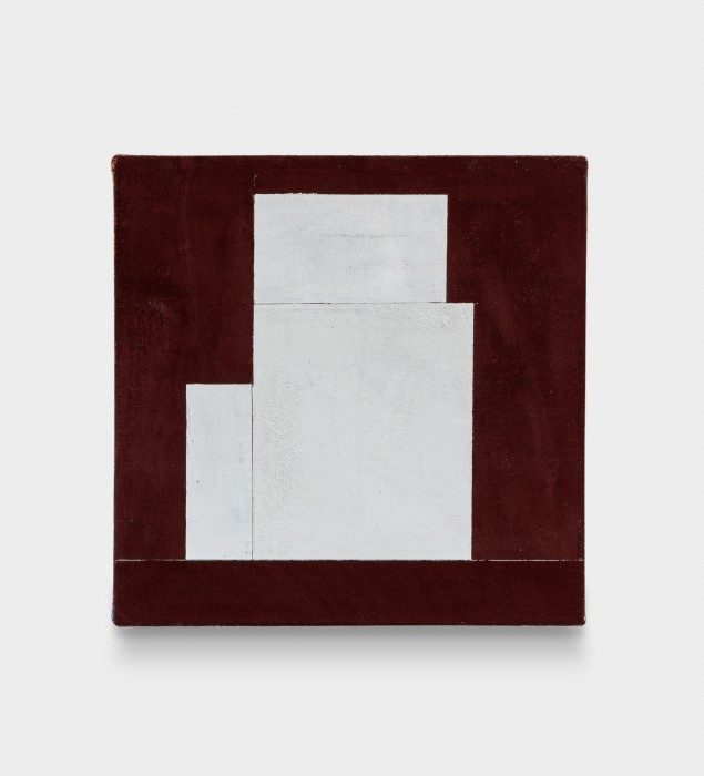 Fabio Miguez Sem título/Untitled, 2020 tinta óleo e cera sobre linho oil paint and wax on linen 30 x 30 x 2,5 cm