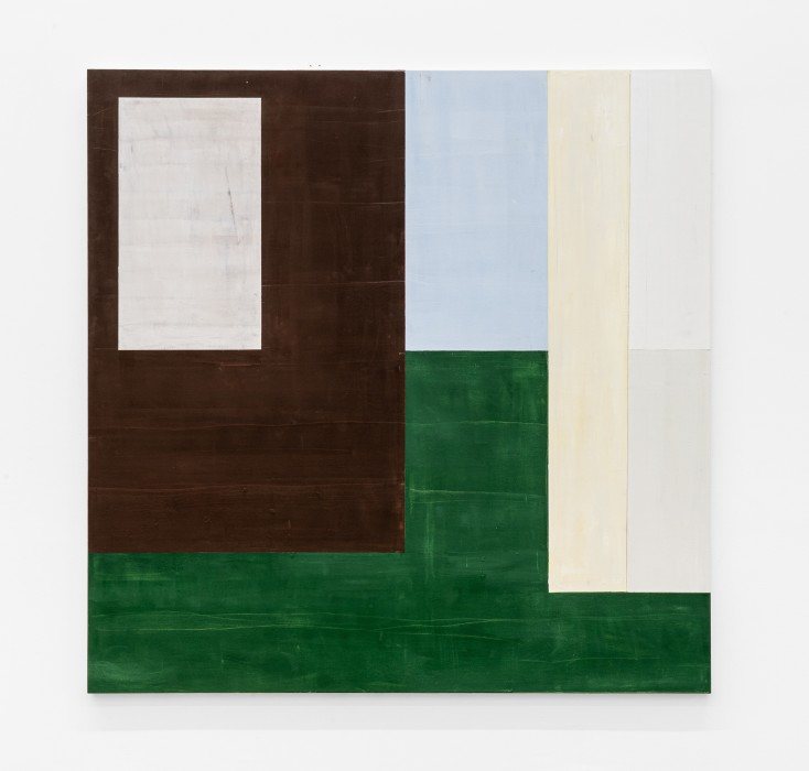Fabio Miguez Sem título, da série Volpi Untitled, from the series Volpi 2020 tinta óleo e cera sobre tela oil paint and wax on canvas 200 x 200 cm