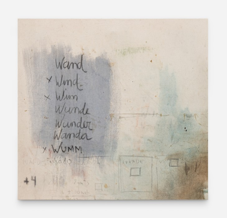 Karin Lambrecht Sem título/Untitled, 1993 pigmentos em meio acrílico e carvão sobre tela pigments in acrylic medium and charcoal on canvas 72 x 75,7 x 3 cm 28.3 x 29.8 x 1.2 in