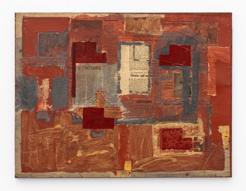 Antonio Dias Sem título/Untitled, 1983 técnica mista sobre tela mixed media on paper 48 x 63 x 1,8 cm 18.9 x 24.8 x 0.7 in