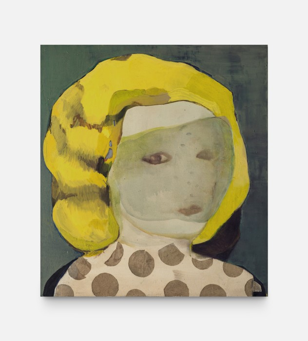 Cristina Canale Jackie, 2020 acrylic, oil and linen on canvas 110 x 100 cm/43.3 x 39.4 in