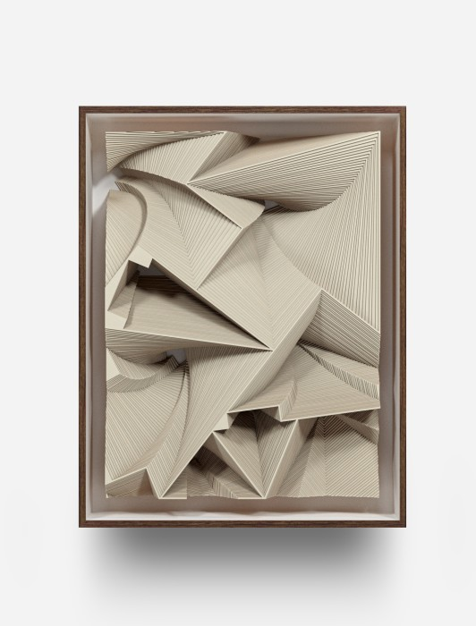 Marco A. Castillo Low Relief with 3 arrows, 2020 cardboard 103 x 77 x 17,5 cm/40.5 x 30.3 x 68.9...