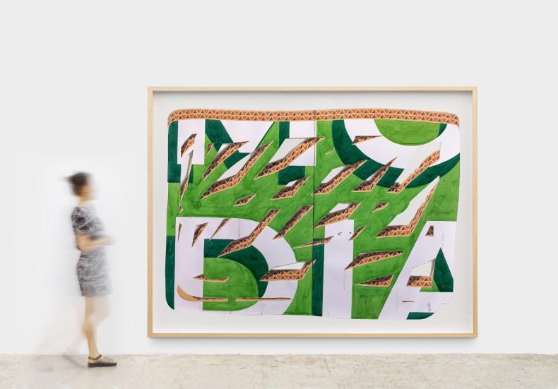 Alexandre Arrechea Ultimos dias (Last days), 2020 watercolor on arches paper 175 x 240 cm/68.9 x 94.4 in