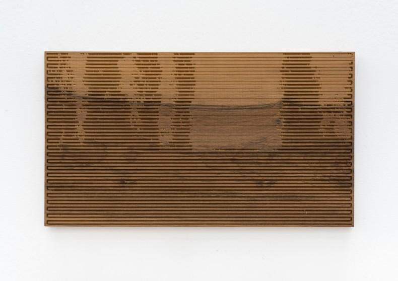 Xavier Veilhan Vent Moderne nº 1, 2015 madeira imbuia imbuia wood unique 33 x 58 x 2 cm 13 x...