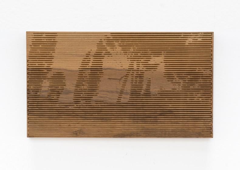 Xavier Veilhan Vent Moderne nº 2, 2015 madeira imbuia imbuia wood unique 33 x 58 x 2 cm 13 x...