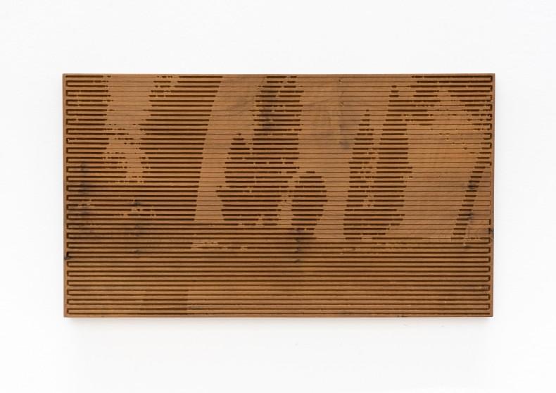 Xavier Veilhan Vent Moderne nº 3, 2015 madeira imbuia imbuia wood unique 33 x 58 x 2 cm 13 x...