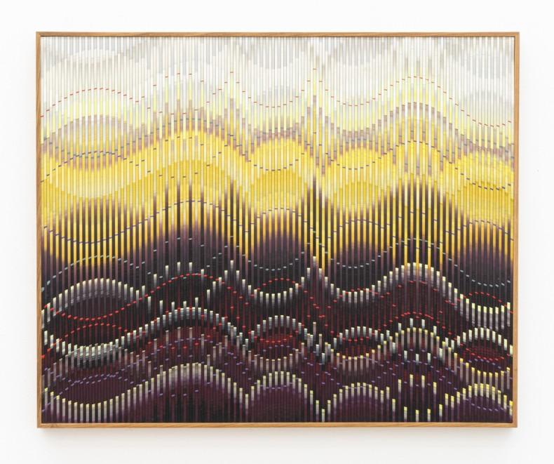 Abraham Palatnik W-M/64, 2018 tinta acrílica sobre madeira acrylic paint on wood 70 x 80 cm 27.6 x 31.5 in
