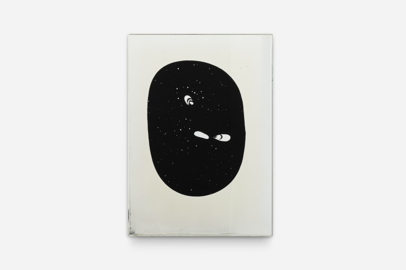 Carlito Carvalhosa Untitled (P93/11), 2011 óleo, espelho e vidro / oil, mirror, and glass 70 x 50 cm / 27.6...