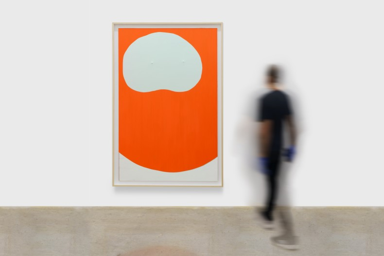 Carlito Carvalhosa Untitled (P61/19), 2019 óleo sobre alumínio espelhado / oil on mirrored aluminum 188 x 122 cm / 74...