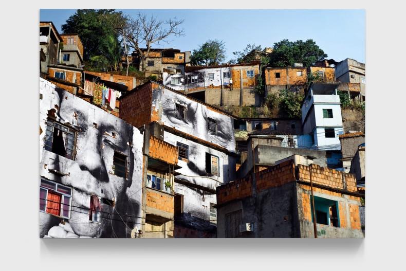 JR 28 Millimètres, Women are Heroes, Action dans la Favela Morro da Providência, Maria de Fatima, day view, Rio de...