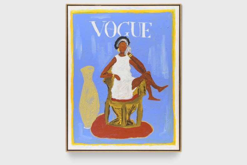 Elian Almeida Maria Auxiliadora da Silva (Vogue Brasil), 2021 tinta acrílica sobre tela 100 x 85 x 4 cm |...