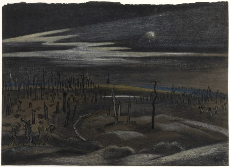 Paul Nash, Nightfall: Zillebeke District, 1917