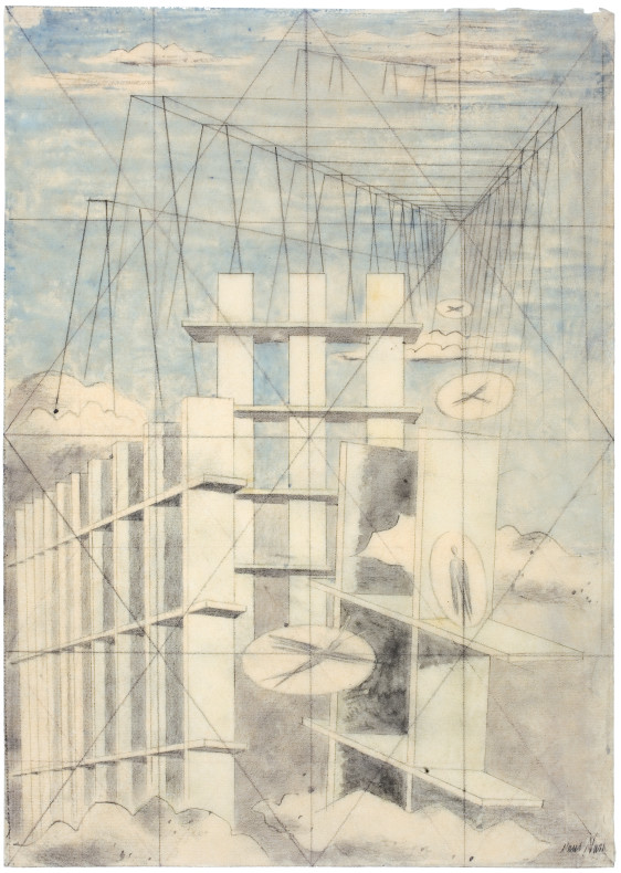 Paul Nash, Mansions of the Dead, 1932