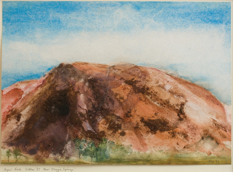 <span class=%22title%22>Ayers Rock, October '83, Near 'Maggie Springs'<span class=%22title_comma%22>, </span></span><span class=%22year%22>1983</span>