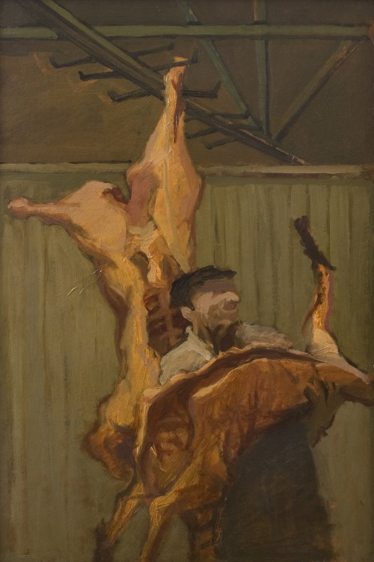 <span class=%22title%22>Butcher Meat Porter Carrying a Carcass<span class=%22title_comma%22>, </span></span><span class=%22year%22>1952</span>