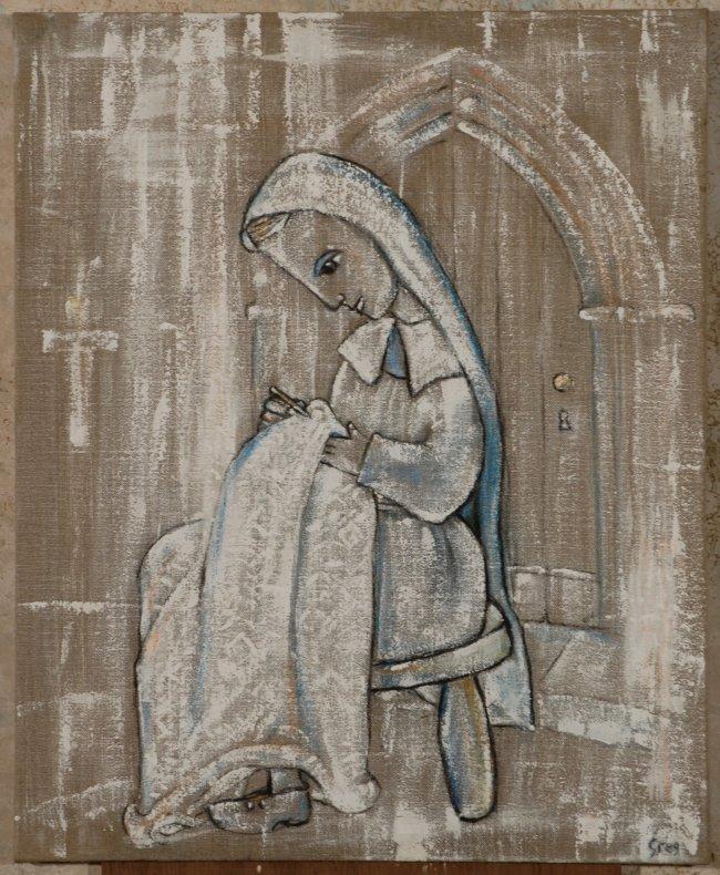 <span class=%22title%22>St Bernadette of Lourdes, Bernadette Embroidery<span class=%22title_comma%22>, </span></span><span class=%22year%22>2008</span>