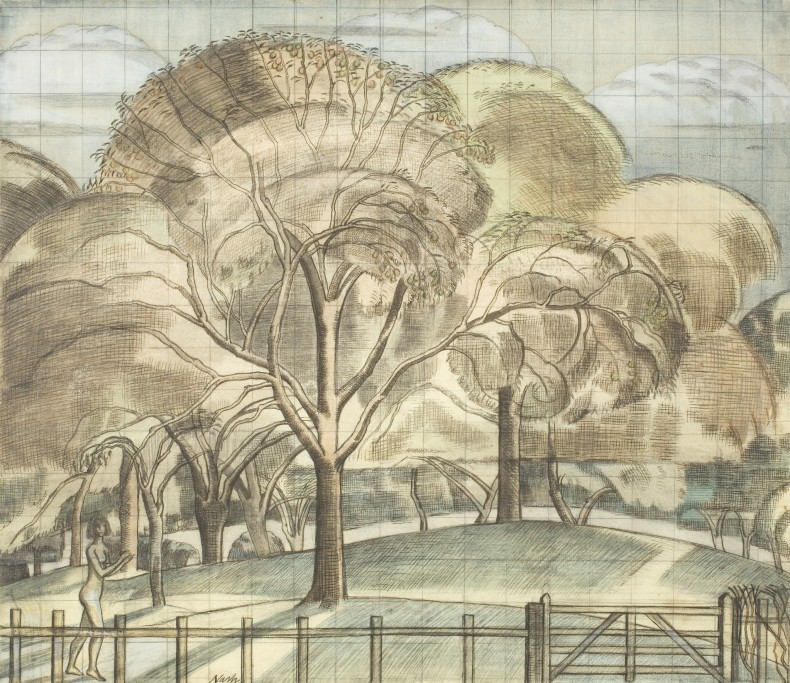 Paul Nash, The Orchard, 1914