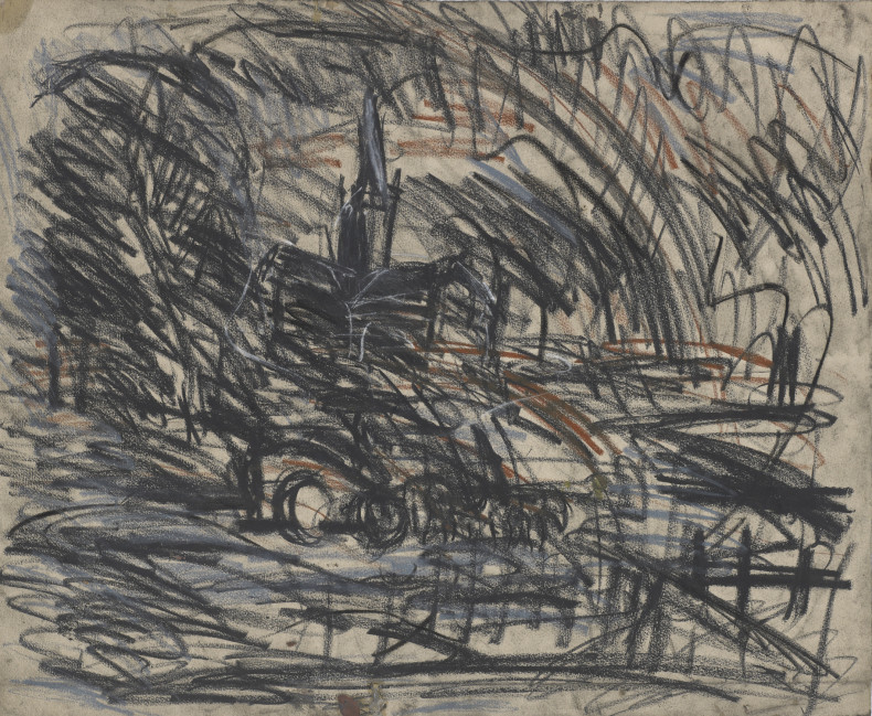 Leon Kossoff, From Constable 'Salisbury Cathedral from the Meadows', 1991, c.