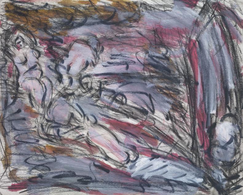 Leon Kossoff, From Cézanne 'Pastoral (Idyll)', 1988
