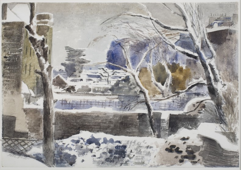 Paul Nash, Hampstead Gardens under Snow, c.1938/9