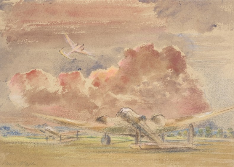Paul Nash, Hampdens at Sunset, 1940