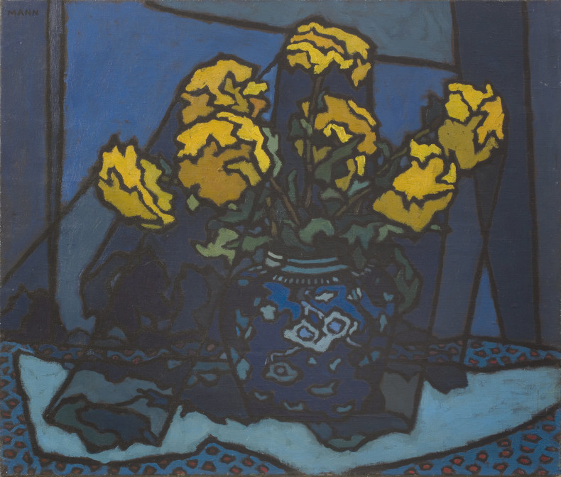 <span class=%22title%22>Dahlias in Blue Vase<span class=%22title_comma%22>, </span></span><span class=%22year%22>1953 c.</span>