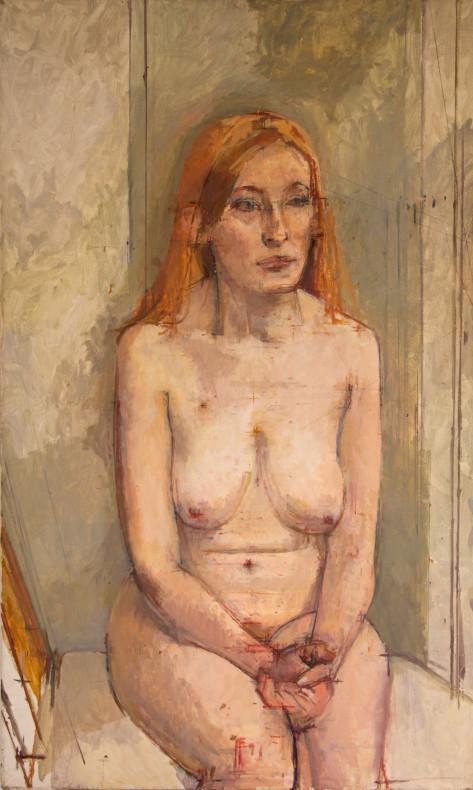 William Coldstream, Seated Nude (Catherine Tait), 1972-3