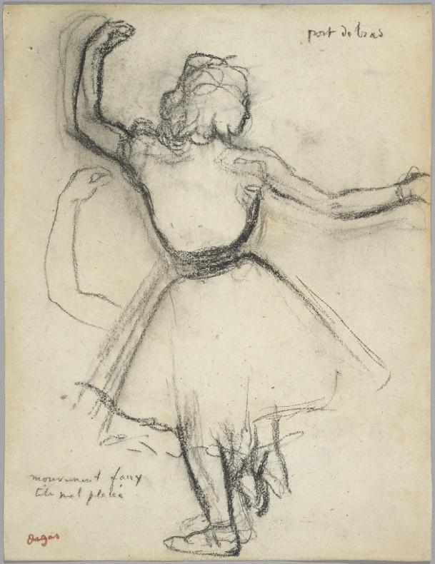 Edgar Degas, Danseuse vue de dos: Port de bras, 1875-85, c.