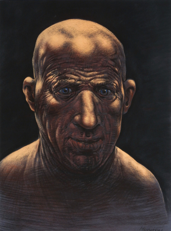 Peter Howson, Self Portrait Repentant, 2001