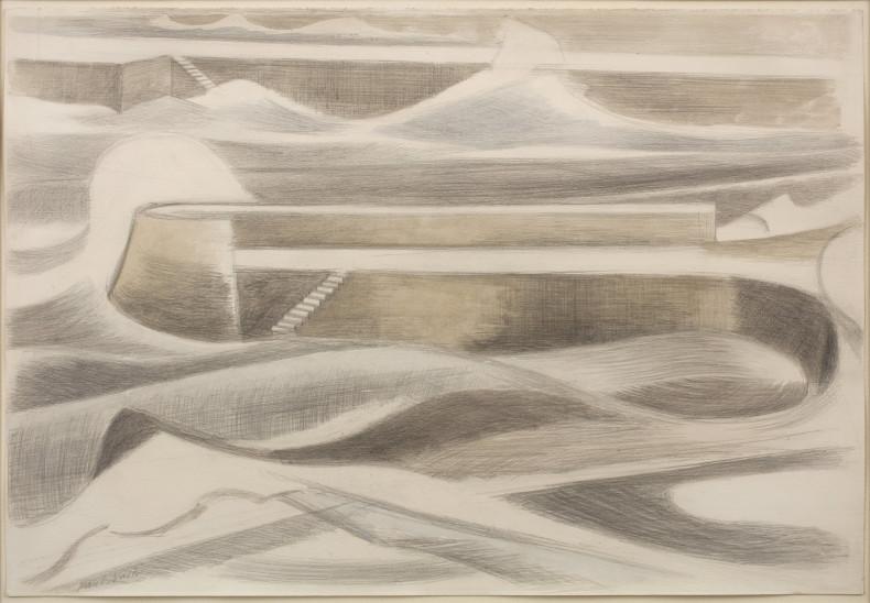 Paul Nash, Sea Wall, 1935