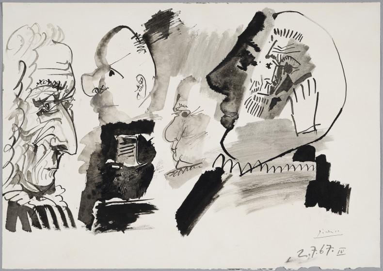 Pablo Picasso, Profils et Têtes, 1967
