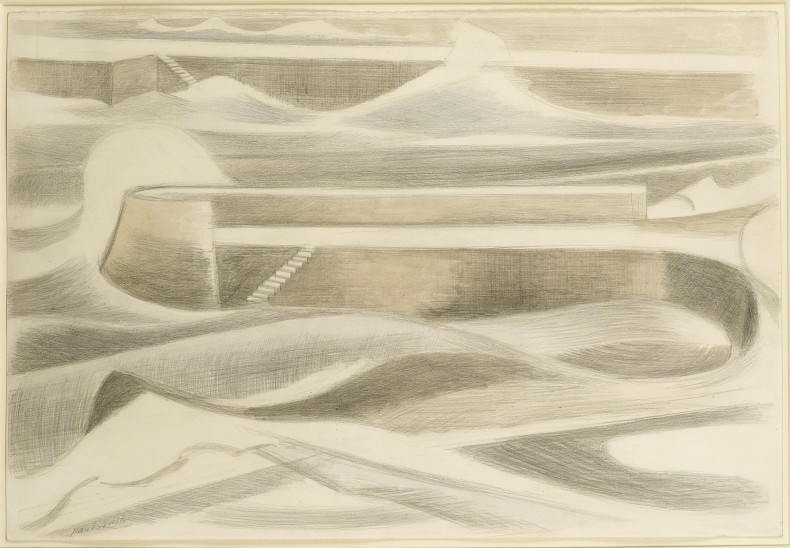 Paul Nash, Sea Wall, 1935