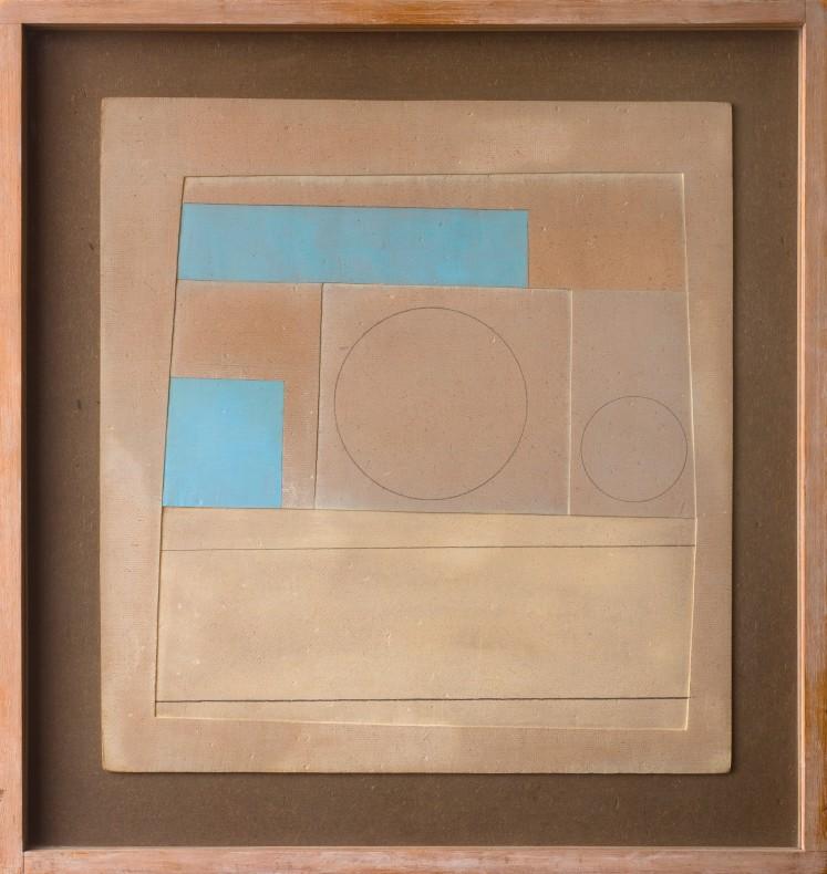Ben Nicholson, November 1959 (Mycenae 3 - brown and blue), 1959